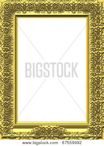 The image of a gold wooden art framework