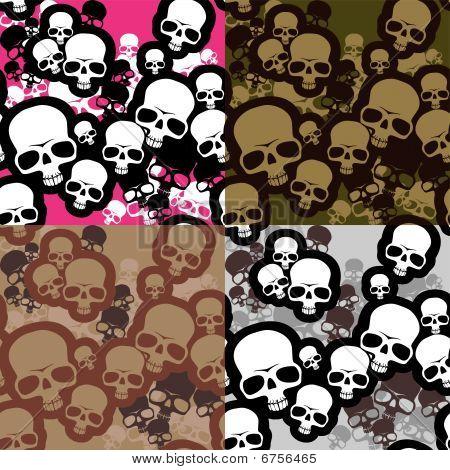 Skulls camo pattern