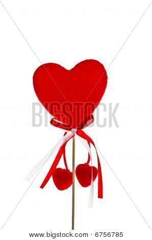 Valentine's Day Red Heart Decoration