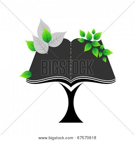 Open book tree icon no Transparencies