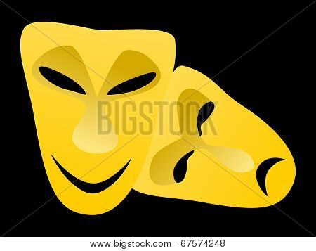 Classical tragedy and comedy masks