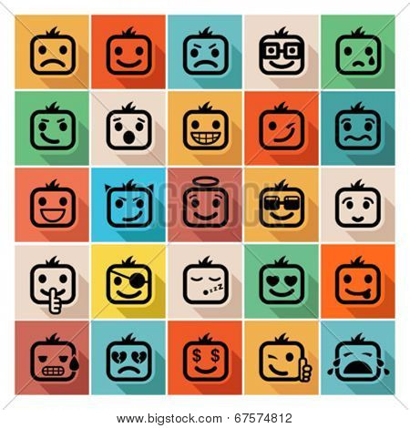 faces icon set