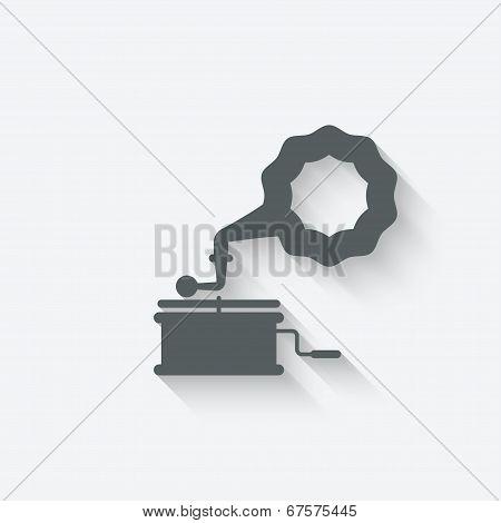 gramophone music design element