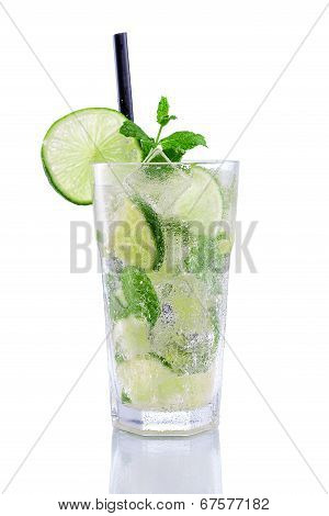 Mojito with lime and min