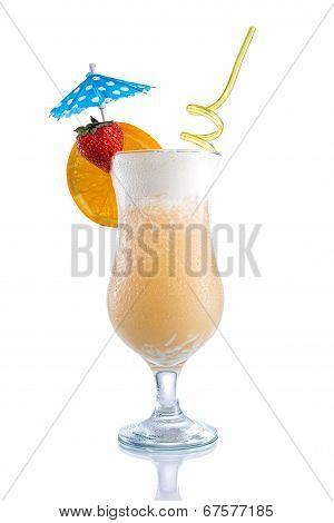 Pina Colada with orange strawberry  umbrella design
