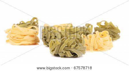 Fettucine pasta isolated.