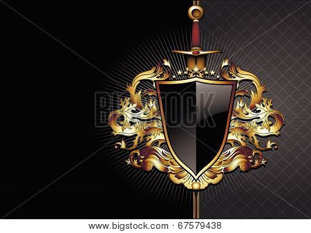 ornate frame with arms