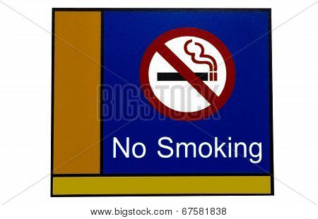 No Smoke Label