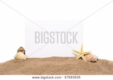 Card On The Beach