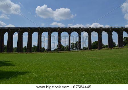 Victorian railway viaduct.