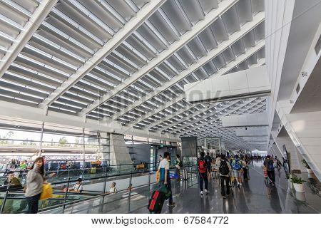 TAOYUAN, TAIWAN- April 15 : Taipei Taoyuan International airport, the main airport in Taiwan on April 15, 2014 in Taoyuan, Japan.