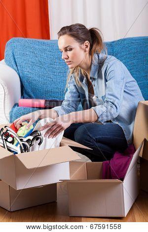 Girl Moving Flat