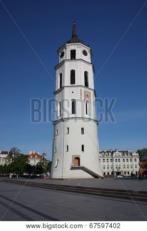 Bell Tower and the Cathedral of St. Stanislaus. Vilnius