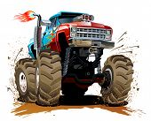 image of muscle-car  - Cartoon Monster Truck - JPG
