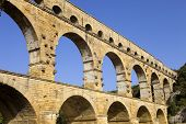 stock photo of aqueduct  - Pont du Gard - JPG