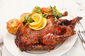 pic of roast duck  - christmas roast goose - JPG