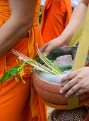 foto of lent  - Tak Bat Dok Mai or Flower Alms Offering Festival at the beginning of Buddhist Lent in Saraburi - JPG
