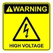 image of voltage  - High voltage sign as a symbol of high voltage - JPG