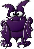 stock photo of bat wings  - Cute little bat with purple fur - JPG