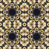 stock photo of marquetry  - Abstract seamless artistic pattern - JPG