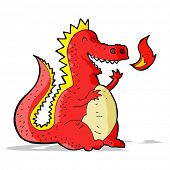 image of fire-breathing  - cartoon fire breathing dragon - JPG
