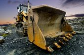 pic of shovel  - Image of a Quarry Shovel at sunset - JPG