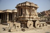 stock photo of charioteer  - Stone chariot at Vittala temple  - JPG