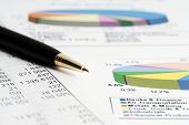 stock photo of stock market data  - Financial accounting stock market graphs analysis - JPG