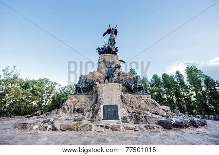 Cerro De La Gloria Monument In Mendoza, Argentina.