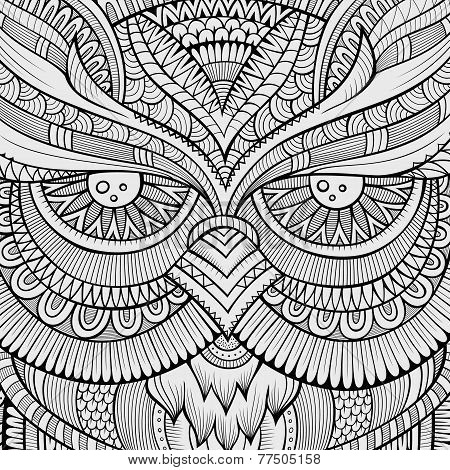 Decorative ornamental Owl background