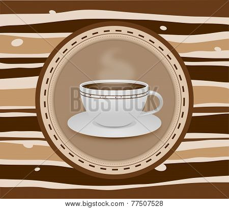 Cup Of Coffee Stripey Background