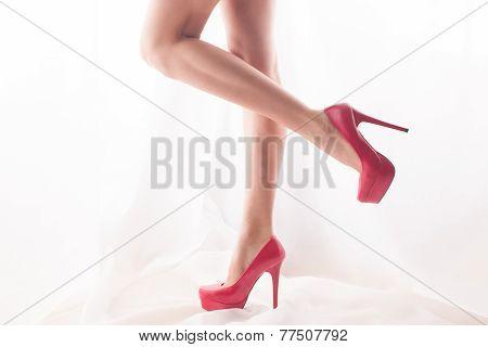 Pink High Heels. High Key