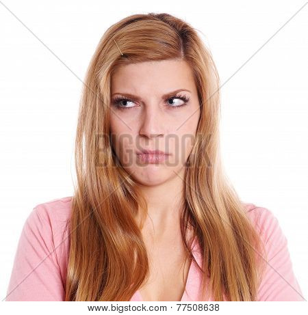 pissed off young woman