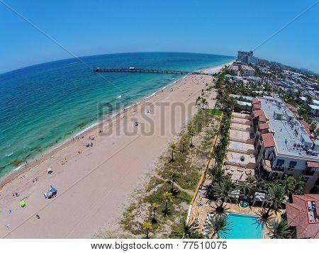 South Florida Beach Aerial View