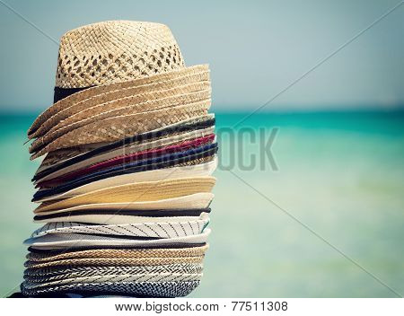 Travel Concept With Colorful Hats