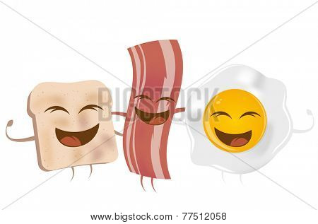 toast bacon and fried egg