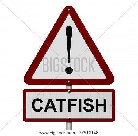 Catfish Caution Sign