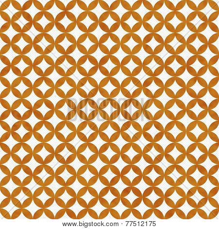 Orange And White Interconnected Circles Tiles Pattern Repeat Background