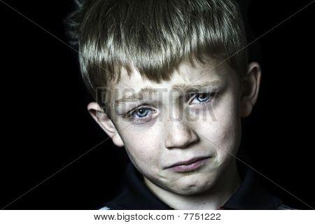 Tearful And Miserable Boy
