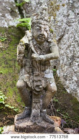 Sculpture In the Balinese temple.