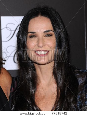 LOS ANGELES - OCT 08:  Demi Moore arrives to the 5th Annual PSLA Autumn Party  on October 8, 2014 in Culver City, CA