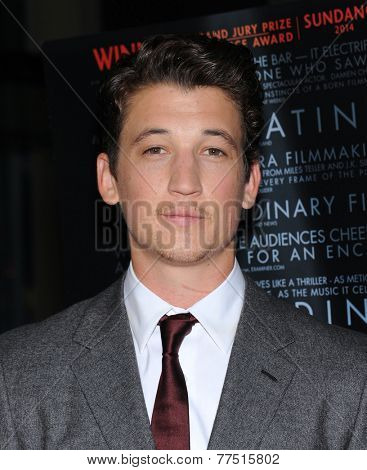LOS ANGELES - OCT 06:  Miles Teller arrives to the