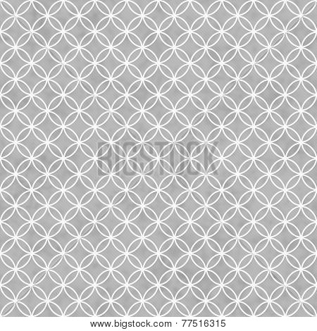 Gray And White Interlocking Circles Tiles Pattern Repeat Background