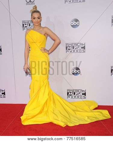 LOS ANGELES - NOV 23:  Rita Ora arrives to the 2014 American Music Awards on November 23, 2014 in Los Angeles, CA