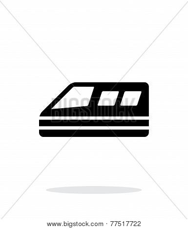 Train simple icon on white background.