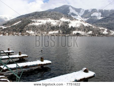Alpine Lake And Mountains