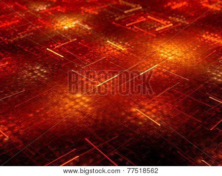 Red Glowing Fiery Light