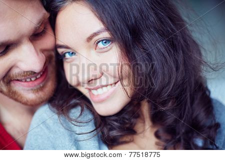 Amorous guy and his girlfriend