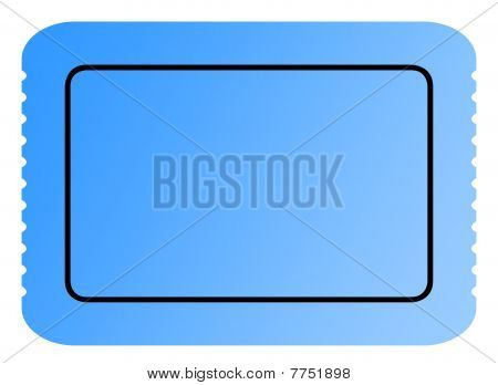 Blank Blue Ticket