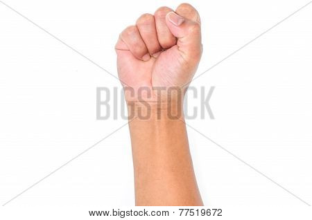 Fist, Isolated On A White Background